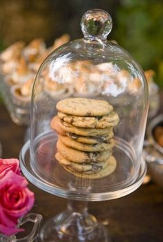 One of the many delights on offer at the chocolate dessert table - choc chip cookies Mini Desserts, Chocolate Desserts, Chocolate Chip Cookies, Homemade Chocolate, Dessert Bars, Dessert Table, Cake Stand With Dome, Cake Stands, Pub Food