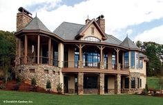 Rear Exterior The Hollowcrest House Plan #5019