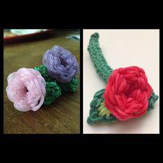 Rainbow Loom roses