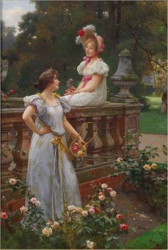 In the garden - Wilhelm Menzler (german, 1846-1926)