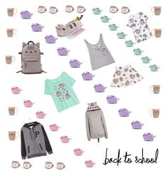 """""""#PVxPusheen"""" by ladynorris on Polyvore featuring Mode, Pusheen, yolo, yay, contestentry und PVxPusheen"""