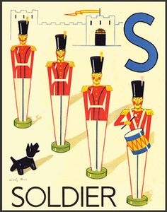 from WONDER ABC : THREE JOLLY ALPHABETS (London: ca 1930), illus. by Cecily Stead and E.W.B.