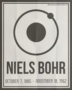 Niels Bohr. October 7, 1885 - November 18, 1962 ~ Hydrogene Portfolio