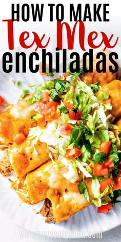 BEST EVER Tex Mex Enchiladas you can make with ANY Filling! Smothered in a flavorful Tex Mex Chili Gravy enchilada sauce. All the tips and tricks you need to know to make the BEST enchiladas at home! Enchilada Recipes, Enchilada Sauce, Meat Recipes, Mexican Food Recipes, Dinner Recipes, Cooking Recipes, Mexican Desserts, Cooking Tips, Carnitas