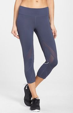 Zella 'Bees Knees' Slim Fit Running Capris available at #Nordstrom
