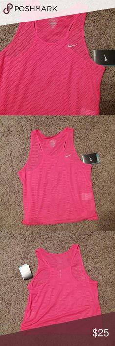 "Nike Workout Tank Nike Dri-Fit Workout Tank. NWT. Light, see-through material. Approximate measurements:  Bust 18""  Length from neckline 15"" Price is firm unless bundled. Nike Tops Tank Tops"