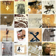 """Sometimes people have the idea that art should be highly refined.  But I always believed that one could make art out of simple, humble  things. Small things can be transcendental. They can change our way  of looking at the world. I think it's important to make art out of   almost anything"". Antoni Tapies"