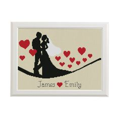Wedding Cross stitch pattern modern just от AnimalsCrossStitch