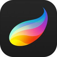 Procreate – Sketch, paint, create. by Savage Interactive Pty Ltd.  Initial thoughts are I love it!  I'm no pro, just a newbie trying to learn design and so far I haven't had to think about how to use this, it just works.