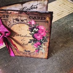 Handmade Vintage Book Wedding Invitations by ShabbyScrap on Etsy, $10.00