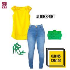 Irradia tu alegría en tu #Outfit. #Moda #Estilo #Fashion  www.paris-jeans,com