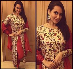 Sonakshi Sinha at her best friend's wedding kalire ceremony in printed jacket