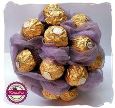 Bukiet z czekoladek Ferrero Rocher   Kasmatka