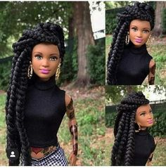 Love those Black Dolls❣ African Dolls, African American Dolls, Beautiful Barbie Dolls, Vintage Barbie Dolls, Fashion Royalty Dolls, Fashion Dolls, Bratz, Diva Dolls, Barbie Fashionista