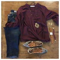 HELLO, FALL!!!!!!  The perfect fall outfit with my favorite new blouse (only $45!)!