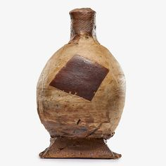 From Rago, Peter Voulkos, Early bottle, California Glazed and incised stoneware, 12 × 6 in Modern Ceramics, Stoneware, Auction, Artsy, Pottery, California, Vase, Bottle, Artwork