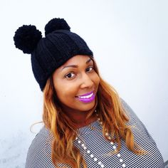 How to Knit Beyonce's Pom Pom Beanie Hat by Studio Knit on YouTube. FREE Knitting Pattern!