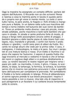 Storia sull'autunno per bambini 14 Digital Story, Education, Words, School, Ariel, Autumn, Learning Italian, Speech Language Therapy, Reading