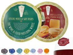 Wine Trio Bundle: Wine And Cheese Pairing Wheel, Wine And Food Pairing Wheel, And 8 Wine Glass Markers, 2015 Amazon Top Rated Glass Markers #Kitchen