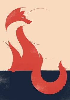 fox Art Print by Jay Fleck | Society6