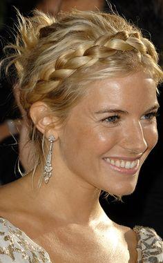 Como hacer las trenzas diadema que lucen las celebrities: Sienna Miller