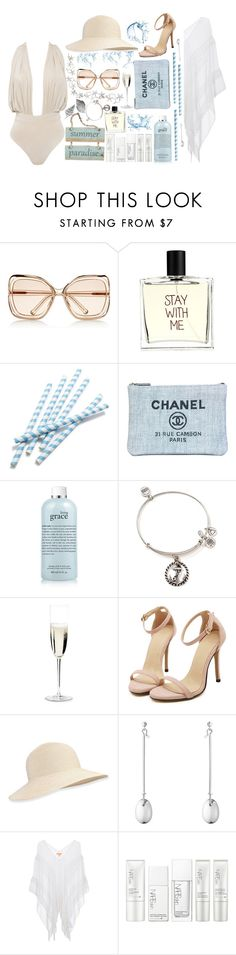 """""""Cape Cod Get-Away"""" by wowsocks ❤ liked on Polyvore featuring Chloé, Liaison De Parfum, Chanel, philosophy, Alex and Ani, Riedel, Eric Javits, Georg Jensen, Lipsy and NARS Cosmetics"""