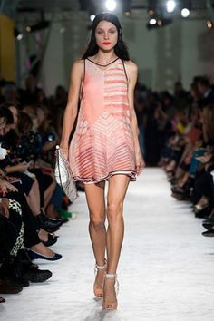 Missoni Spring 2013 She worked layers in sheer-over-graphically printed.