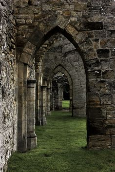 Arches of Bayham Old Abbey, England