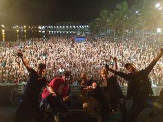 Playa Del Reducto durante el concierto de Los 40 Principales