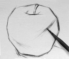 How to draw apple with a pencil | How to draw | drawing pictures & lessons,drawing easy tutorials