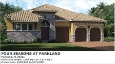 PARADISE LUXURY PROPERTIES: FOUR SEASONS AT PARKLAND IN PARKLAND NEW HOMES FOR... New Condo, Condos For Sale, New Homes For Sale, South Florida, New Construction, Four Seasons, Paradise, Real Estate, Mansions