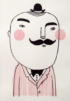 Studio Violet.  Mr Mustache.