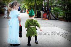 Peter Pan and Wendy Darling DIY costumes.  @Amanda Snelson Snelson Jones