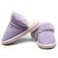 Panlu Flat Heels Slippers with Geniune Sheepskin Wool