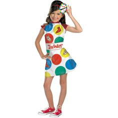 Your daughter can make America's funnest game come to life! Dress with Twister spinner headband. Child size 7-8. Box Dimensions (in Inches) Length : 14.00 Width : 13.00 Height : 3.00