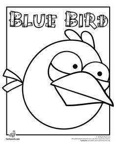 Angry Birds Blue Bird Coloring Page {Next time Kenz asks to play Angry Birds, I will print her some coloring pages}