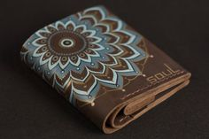 Women leather wallet. Minimal purse. Original wallet. Simple wallet. Brown leather wallet. Mandala. Compact wallet. Art. FREE SHIPPING!!!!! by SoulLeatherCraft on Etsy
