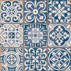 Azulejos Portugueses click now for info. Tile Design, Pattern Design, Deco Design, Blue Tiles, White Tiles, Wall And Floor Tiles, Patterned Kitchen Tiles, Tile Art, Painting Tiles
