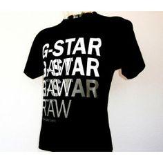Camiseta Gstar Raw Negro/Blanco