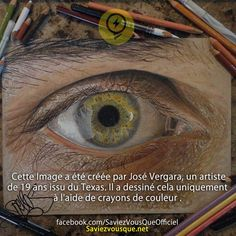 "Texas-based artist Jose Vergara (a. Redosking), a self-described ""graffiti artist with a Medieval heart,"" brings colored pencil art to a higher level. The artist uses them to create impressively realistic drawings. Graffiti, Realistic Pencil Drawings, Art Drawings, Realistic Paintings, Amazing Drawings, Beautiful Drawings, Eye Illustration, Coloured Pencils, Color Pencil Art"