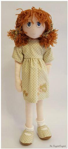 Handmade Rag Doll Pretty  'Pumpkin Rags'  by TheRagdollRagdoll