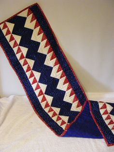Red White and Blue Table Runner by LJsCustomCreations on Etsy, $49.00