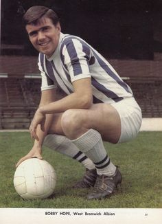July West Bromwich Albion playmaker Bobby Hope, pictured at the Hawthorns. West Bromwich Albion Fc, British Football, Bobby, In This Moment, 1960s, Uk Football, Sixties Fashion