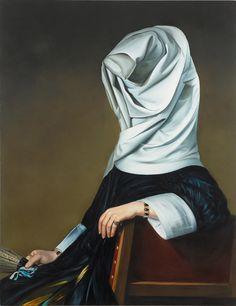 Los retratos clásicosde la artistaEwa Juszkiewiczy sus musas con caras/cabezas de setas o cucarachas. Simplemente geniales.                — EWA JUSZKIEWICZ