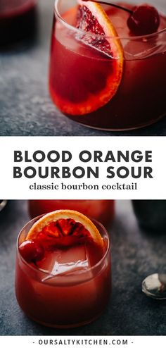 cocktail drinks A blood orange cocktail is the perfect celebration of winter's best cocktail flavors. Embrace the sharp, sour notes of fresh blood oranges paired with smokey, sweet bourbon with this blood orange bourbon sour. Bourbon Cocktails, Bourbon Mixed Drinks, Bourbon Sour, Sweet Bourbon, Beste Cocktails, Cocktail Bitters, Fruity Cocktails, Cocktail Recipes, Whiskey Cocktails