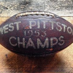 Hand-painted memorial pigskin. Tis the season to get tackled! by stockvintagenyc