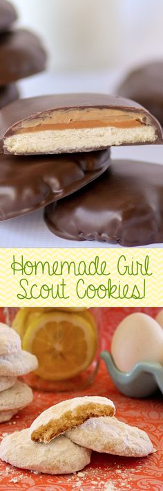 Make YOUR OWN! Recipes for almost every Girl Scout Cookie -- Tagalongs, Thin Mints, Samoas, Savannah Smiles, Do-Si-Dos....Pinning for an epic bake-session later!!!!!