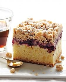 European immigrants made this confection -- which has large, crisp crumbs on top -- a New York City coffee-shop favorite. An optional layer of jam between the batter and topping adds a fruity component.