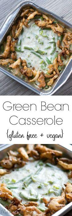 Green Bean Casserole gluten free + vegan | Making it Milk-free | makingitmilkfree.com