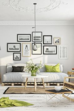 If you want a Scandinavian living room design, there are some things that you should consider and implement for this interior style. Wood as a material has an important role as well as light colors, because they give the living… Continue Reading → Home Living Room, Living Room Designs, Living Room Decor, Living Spaces, Gallery Wall Living Room Couch, City Living, Living Area, Scandinavian Interior Design, Scandinavian Living